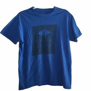Billabong Mens Blue Graph T-Shirt. Size Medium
